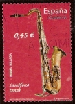 Stamps : Europe : Spain :  Saxófono tenor
