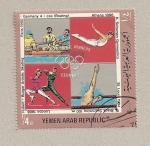 Stamps Yemen -  Medallas oro juegos olímpicos