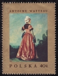 Stamps Poland -  ANTOINE WATTEAU