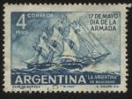 sellos de America - Argentina -  Fragata