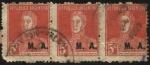 Sellos del Mundo : America : Argentina : Libertador General San Martín. Sobreimpreso M. A. Ministerio de Agricultura.