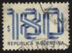 Sellos de America - Argentina -  N�meros con colores patrios.
