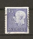 Stamps Sweden -  Gustavo VI / Quinta Serie (con iniciales).