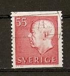 Sellos de Europa - Suecia -  Gustavo VI / Quinta Serie (con iniciales).
