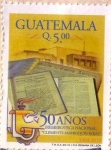 Stamps America - Guatemala -  50 años Hemeroteca Nacional