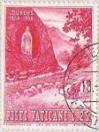 Sellos de Europa - Vaticano -  LOURDES - GRUTA