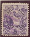 Stamps America - Guatemala -  Escudo Union Postal