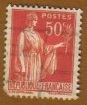 Sellos de Europa - Francia -  Paz con Olivo