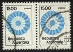 Stamps : America : Argentina :  Escarapela Argentina.