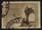 Stamps : America : Argentina :  Centenario de la muerte del General Don José de San Martín.