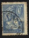 Stamps America - Argentina -  Proas que cimentan nuestra grandeza. Semana del mar. Virgen Stella Maris protectora de los marineros