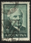 Stamps : America : Argentina :  Domingo Faustino Sarmiento. 1811 – 1888. Militar, político, docente, escritor, periodista. President