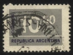 Stamps Argentina -  Sello cifra. 10 pesos