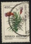 Sellos del Mundo : America : Argentina : Flor del Clavel del Aire. Trilandsia aeranthos.