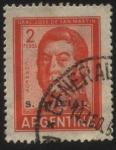 Sellos del Mundo : America : Argentina : Libertador General San Martín. Sobreimpreso Servicio Oficial.