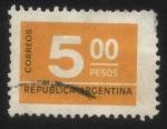 Sellos de America - Argentina -  Sello cifra. 5 pesos
