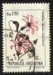 sellos de America - Argentina -  Flor de Virreina. Mutisia retusa Remy.