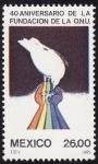 Stamps Mexico -  40 aniversario de la fundación de la ONU