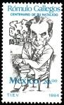 Stamps Mexico -  Rómulo Gallegos-Centenario del natalicio del escritor y político venezolano