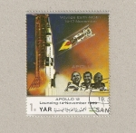 Stamps Yemen -  Misión Apolo 12