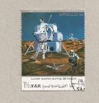 Sellos de Asia - Yemen -  Modulo lunar