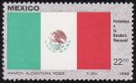 Stamps America - Mexico -  Bandera de México
