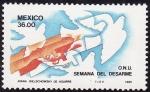 Stamps Mexico -  ONU- Semana del desarme