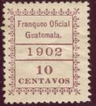 Sellos de America - Guatemala -  Franqueo Oficial