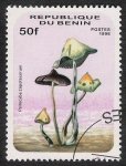 Stamps Africa - Benin -  SETAS-HONGOS: 1.114.012,00-Psilocybe zapotecorum -