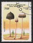 Sellos del Mundo : Africa : Benin : SETAS-HONGOS: 1.114.013,00-Psilocybe mexicana -