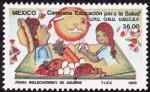 Sellos de America - México -  Campaña-Edudación para la salud.
