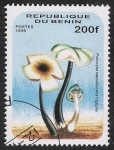 Stamps Africa - Benin -  SETAS-HONGOS: 1.114.016,00-Psilocybe caerulescens nigripes -