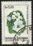 Sellos de America - Uruguay -  Flor Malvinense. Oxalis enneaphylla.