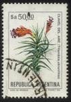 sellos de America - Argentina -  Flor del Clavel del Aire. Trilandsia aeranthos.