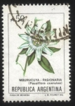 Stamps : America : Argentina :  Flor de Pasionaria ( Mburucuyá ). Passiflora coerulea.