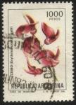 sellos de America - Argentina -  Flor de Ceibo. Erythrina crista - galli.