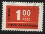 Stamps : America : Argentina :  Sello cifra.