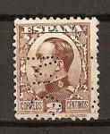 Sellos del Mundo : Europa : España : Tipo Vaquer de Perfil./ Alfonso XIII.