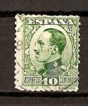 Stamps Spain -  Tipo Vaquer de Perfil / Alfonso XIII.