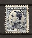Sellos del Mundo : Europa : España : Tipo Vaquer de Perfil / Alfonso XIII
