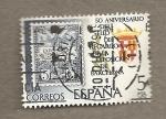 Stamps Spain -  50 Anivesario Sello recargo expo de Barcelona