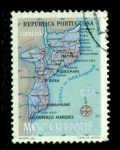 Stamps : Africa : Mozambique :  Mapa