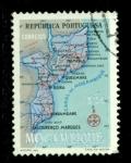 Sellos del Mundo : Africa : Mozambique : Mapa