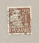 Sellos de Europa - Dinamarca -  Barco de vela