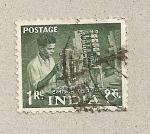 Sellos de Asia - India -  Obrero