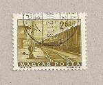 Sellos de Europa - Hungría -  Vias del tren