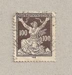 Stamps Czechoslovakia -  Rompiendo las cadenas
