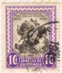 Sellos de America - Guatemala -  Centenario del Sello Postal