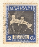 Stamps America - Guatemala -  Flor Nacional Monja Blanca Orquidea
