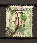 Stamps Spain -  Alfonso XIII / Sobrecargados Seg. Rep.